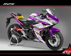 Modifikasi Yamaha R25 Purple Spirit