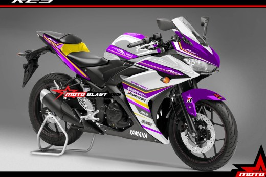Modifikasi Yamaha R25 Purple Spirit