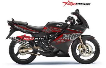 Graphic Kit Kawasaki Ninja 150KRR Old Black Super