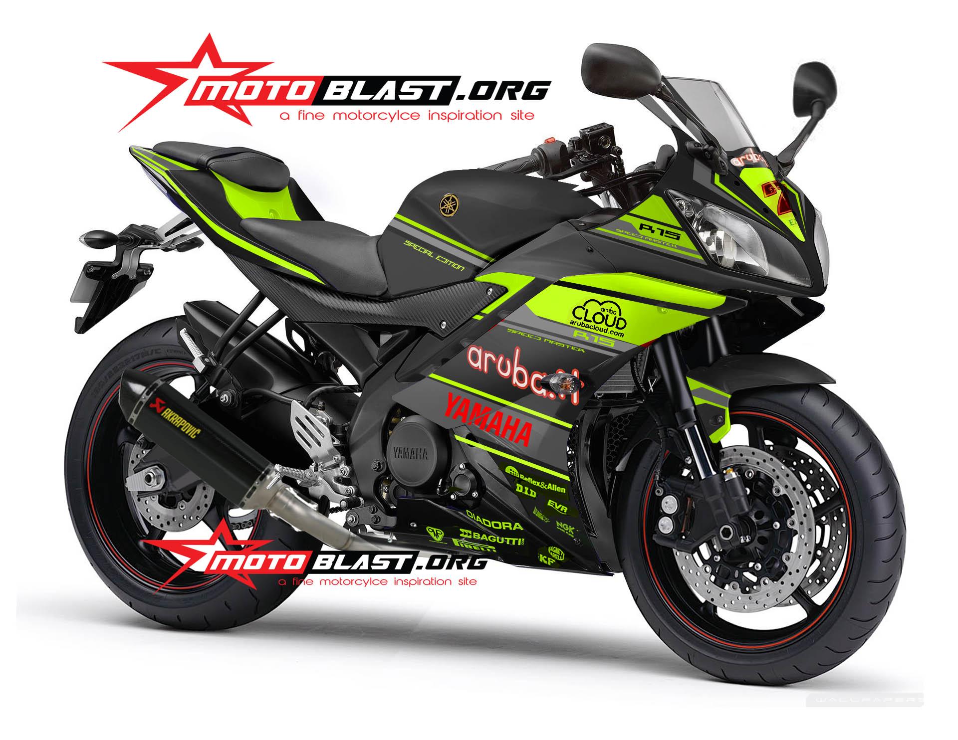 YAMAHA R15 -ARUBA IT RACING-BLACK GREEN