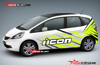 Modifikasi Striping Honda Jazz White Icon slash