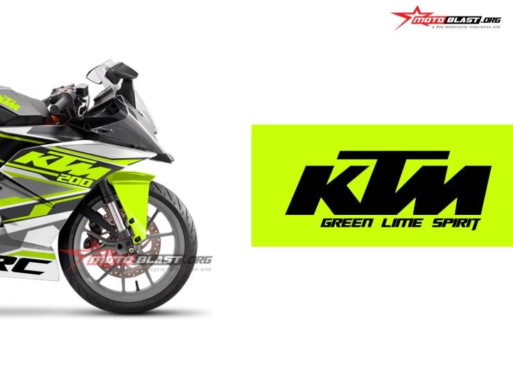 KTM RC 200 BLACK GREEN LIME SPIRIT2