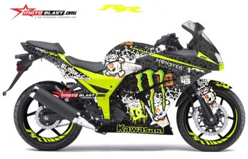 Modifikasi striping Kawasaki Ninja 250R Karbu Black Drift Monster
