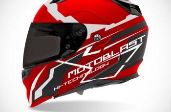 Graphic Kit Helmet Full face Red Motoblast