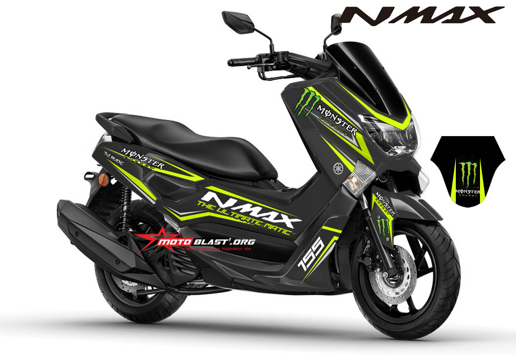 modifikasi striping yamaha nmax black monster