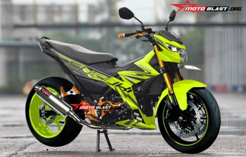 Modifikasi striping Suzuki Satria FU 150 FI Drift Battle