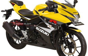 Modifikasi Striping Suzuki GSX-R150 Black Yellow