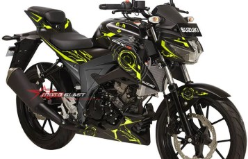 HOT Modifikasi Striping Suzuki GSX-S150 Black Super Hitech