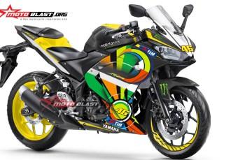 Modifikasi Yamaha R25 Black Sun Moon
