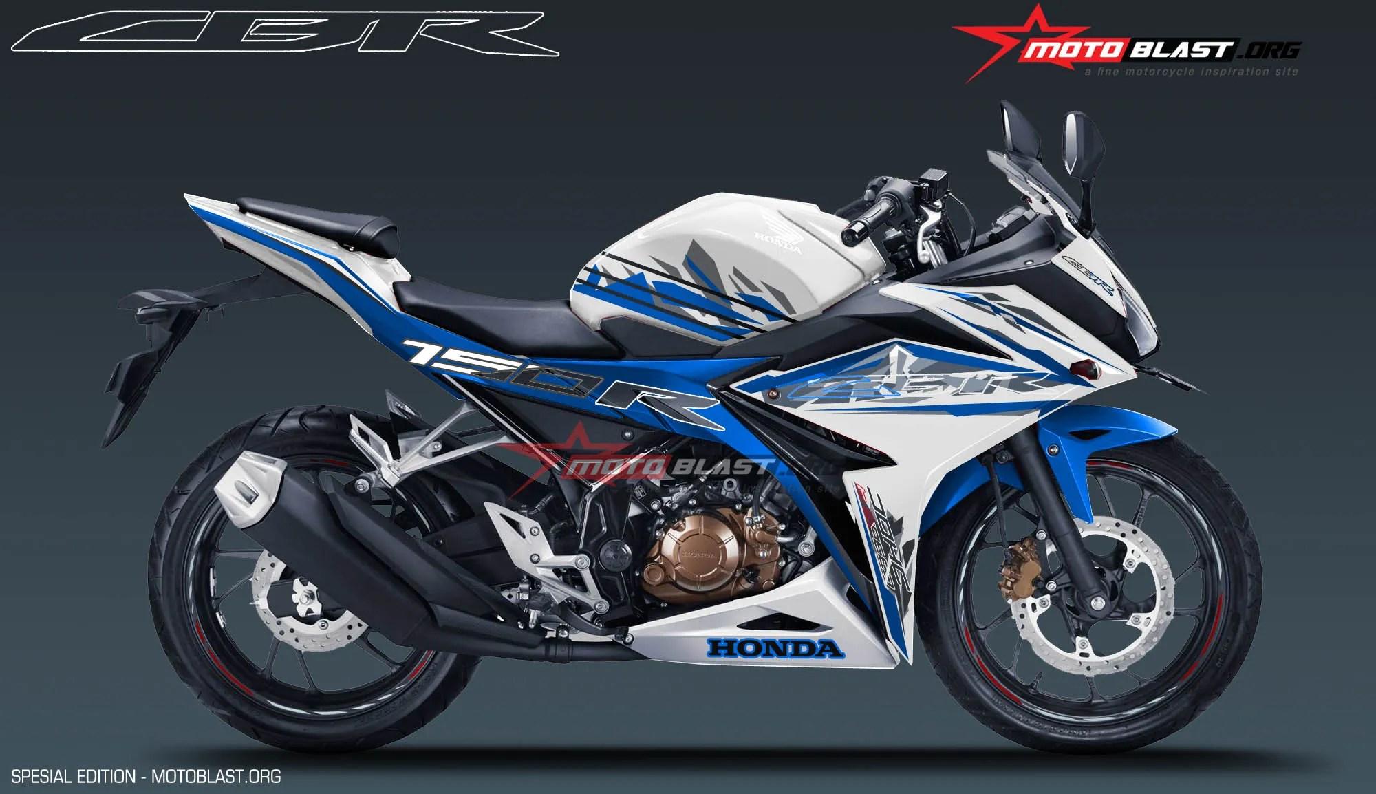 Modifikasi Motor Terbaru New CBR150R White Sporty