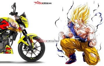 Modifikasi motor terbaru striping KTM Duke Series Dragon Ball