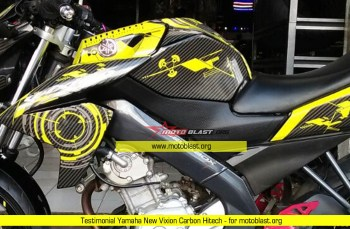 Testimonial Modifikasi Yamaha New Vixion Carbon Hitech Yellow