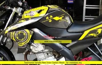 Testimonial Modifikasi Yamaha New Vixion Carbon Hitech Yellow