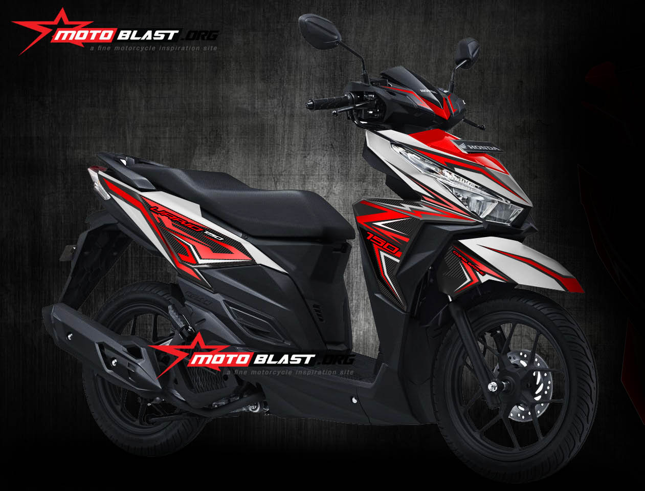 Modifikasi Motor Matic Terbaru Striping Honda Vario 150 125 Esp