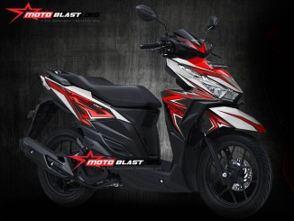 1- VARIO 150 WHITE RED SLASH