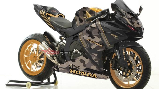 CBR250RR-BLACK ARMY GOLD