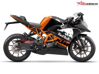 KTM RC 200 - 250 BLACK REDBULL