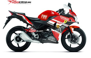 Modifikasi Striping Honda CBR150R Thailand RED Ferrari