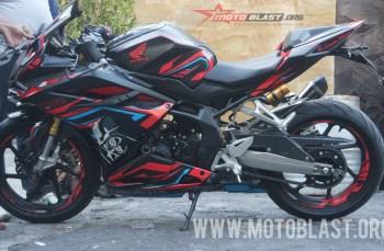 Modifikasi Honda CBR250RR Black tawon dari Bali – Full Decal, Shock Ohlins dan asesoris sangar lainya