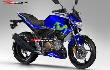 Render Yamaha New Vixion Facelift 2017 jika livery Movistar Motogp