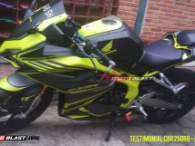 TESTIMONIAL CBR250RR - BLACK GREEN LIME-1