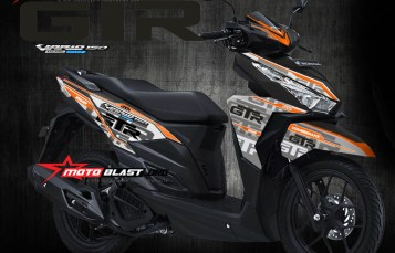 Modifikasi Striping Honda Vario 150 Black ala KTM RC 200! Mrongoss tenan bro