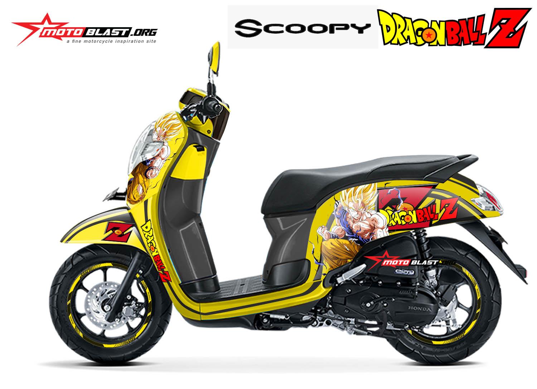 Modifikasi Striping All new Scoopy Dragon ball Z Son Goku ...
