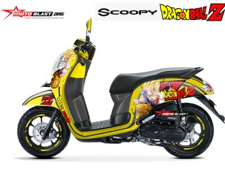Modifikasi striping all new honda scoopy