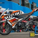 GSX-R150 - BLACK PUZZLE WHITE ORANGE