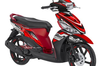 Modifikasi Striping Yamaha Mio J Hitech Red