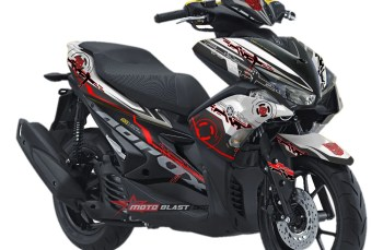 Modifikasi Striping Yamaha Aerox 155 Hitech
