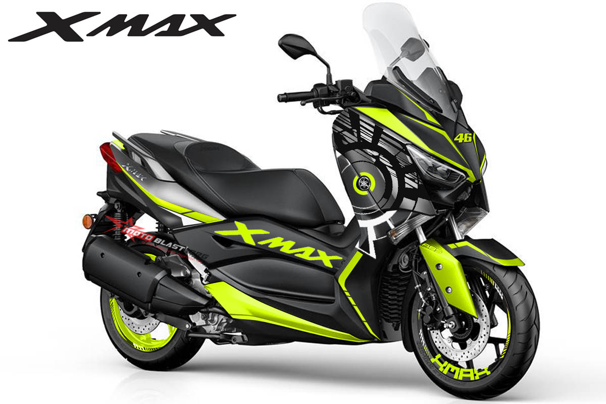 modifikasi striping yamaha xmax dark silver livery sun moon winter test vr46 motoblast. Black Bedroom Furniture Sets. Home Design Ideas