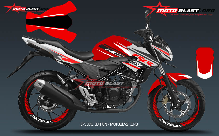 modifikasi striping honda  cbr red motoblast