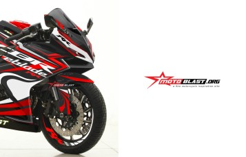 Modifikasi striping Honda CBR250RR black Fireblade