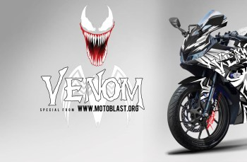 Modifikasi Striping Yamaha All New R15 V3 Black Venom Black spiderman
