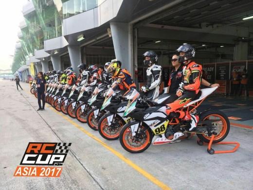 KTM Cup Asia Race seri ke -3 M Reihan Bersiap jadi yang tercepat di Sepang Malaysia1