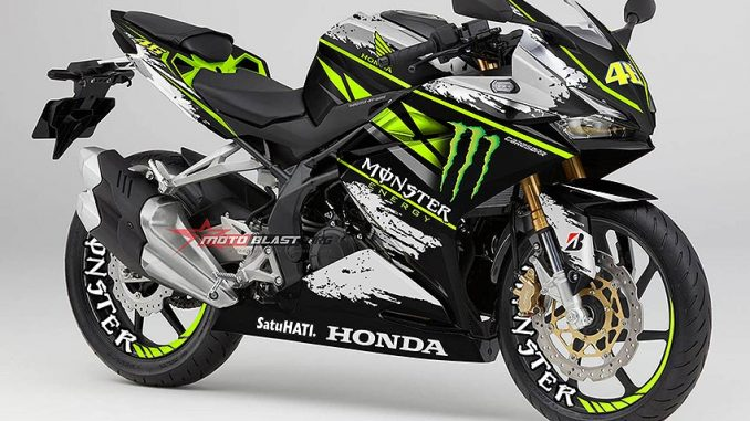 modifikasi striping honda cbrrr monster energy part