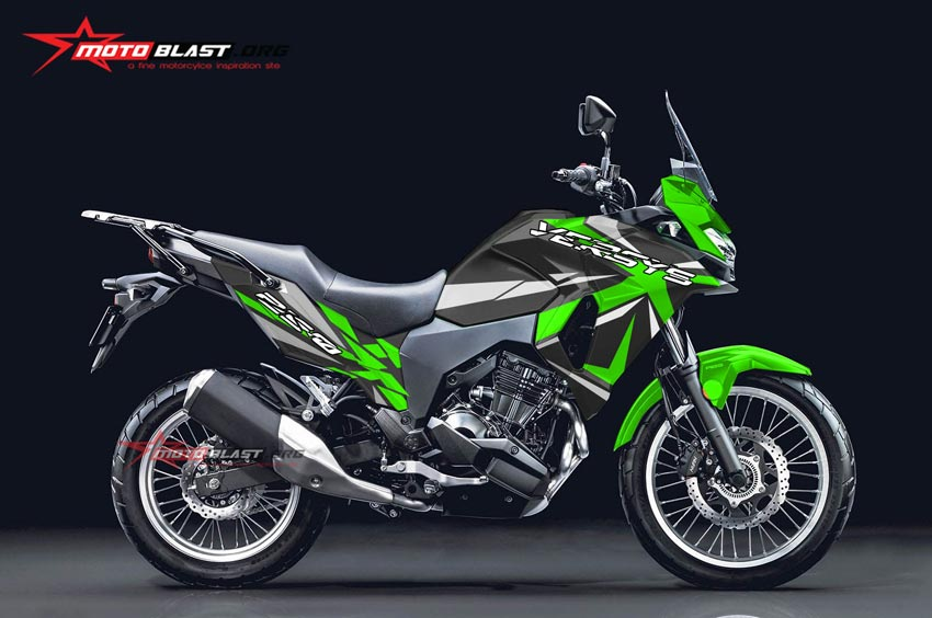 Modifikasi Striping Kawasaki Versys250 Sporty X