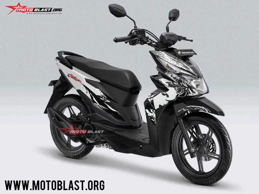 Modifikasi Striping Honda Beat Street Livery Kabuki MOTOBLAST