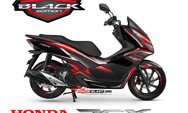 NEW PCX 150-black edition carbon3b