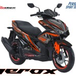 AREOX 155 VVA BLACK TECHNO ORANGE