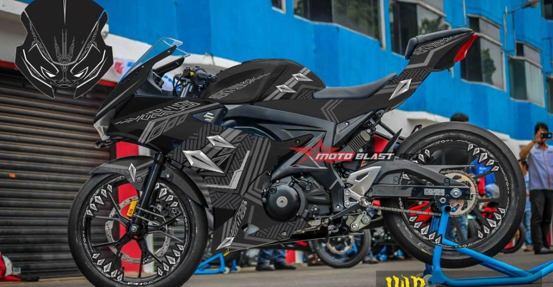 1 GSX R150 BLACK PANTHER1