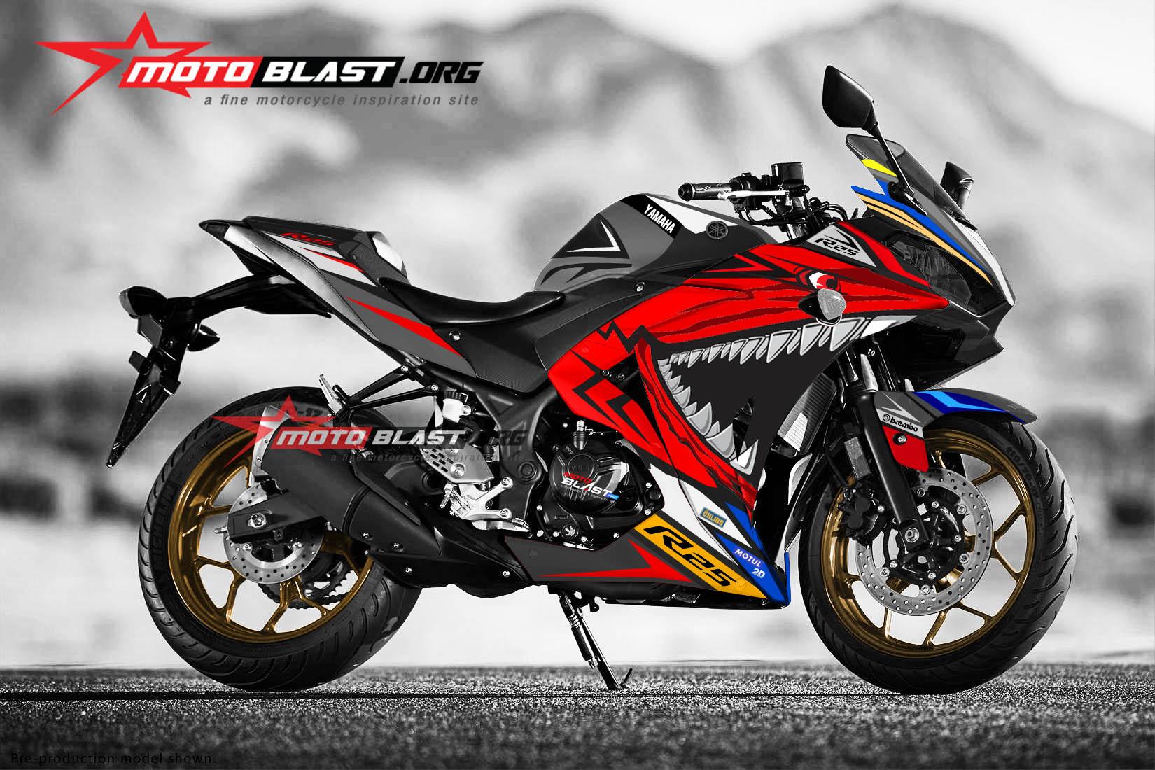 Mega gallery kumpulan modifikasi striping yamaha r25 motoblast