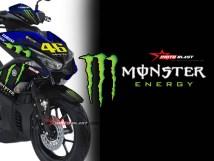 yamaha nmax livery monster energy gp  motoblast