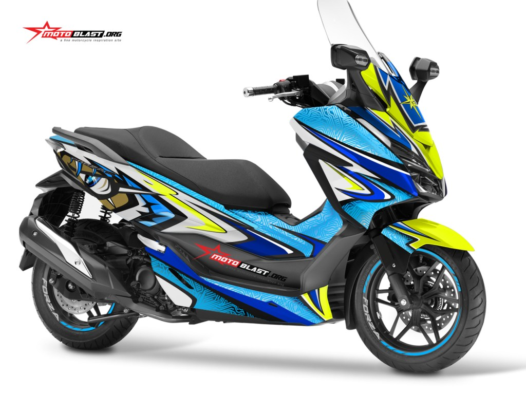 modifikasi striping honda forza 250 shoei daijiro motoblast