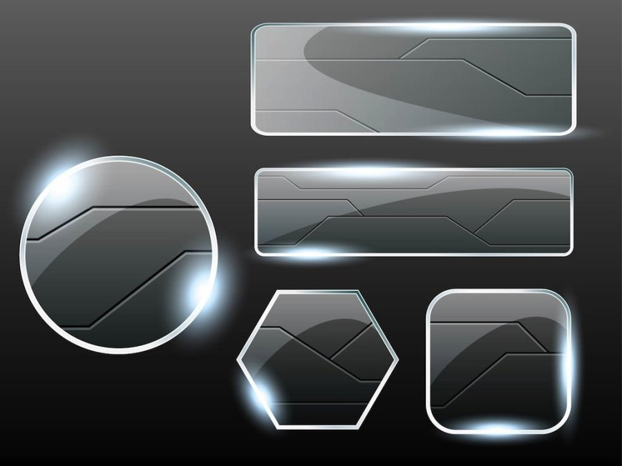 Glass-Buttons