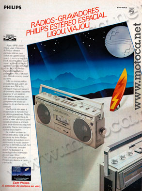 radio-gravador philips