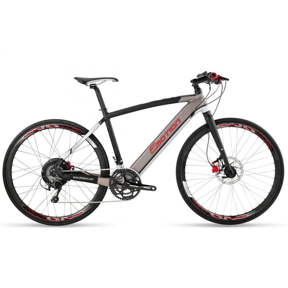 Bh Evo Race Pro Grey Black Red Road Bike Motocard
