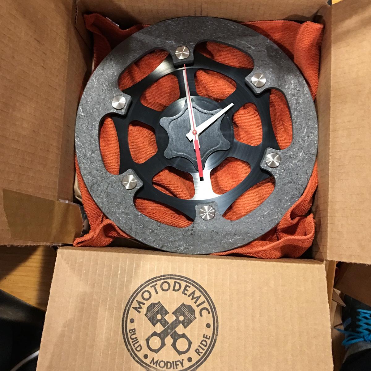 MotoGP Carbon Brake Rotor Clock