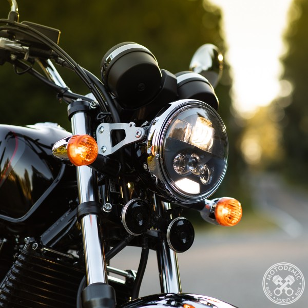 CB1100 LED Headlight Upgrade